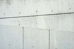 Concrete brutalism. Style in '70 Architecture Royalty Free Stock Photo