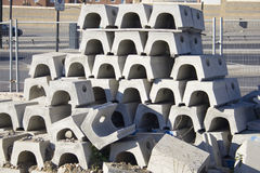 Concrete Building Blocks. Concrete blocks in a pile Royalty Free Stock Photography