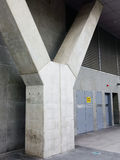 Concrete Building Buttress Stock Photo