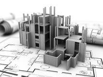 Concrete building construction Stock Photo