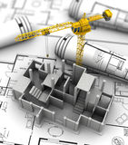 Concrete building construction Royalty Free Stock Images