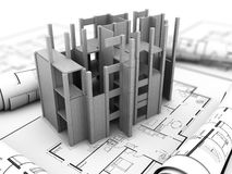 Concrete building project Royalty Free Stock Photos