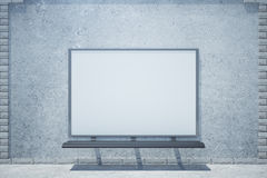 Concrete building with whiteboard Royalty Free Stock Photography