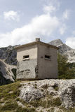 Concrete bunker in Alps Royalty Free Stock Image