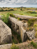 Concrete bunker Pointe Du Hoc Royalty Free Stock Photo