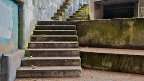 Concrete Bunker Steps left Stock Photos