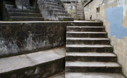 Concrete Bunker Steps right Stock Image