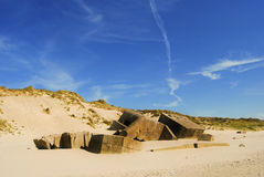 Concrete bunkers from Second World War Royalty Free Stock Photos