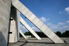 Concrete butresses. Liverpool metropolitan cathedral concrete buttresses Stock Images