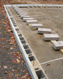 Concrete cap blocks laid out on slab Royalty Free Stock Photo