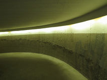 Concrete car ramp perspective Royalty Free Stock Photography