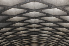 Concrete ceiling of a subway, Montreal Royalty Free Stock Images