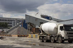 Concrete or cement factory Royalty Free Stock Photography