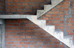 Concrete or cement stairs. In home Royalty Free Stock Images