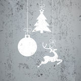 Concrete Christmas Card Royalty Free Stock Image