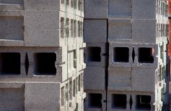 Concrete Cinder Blocks Stock Photo