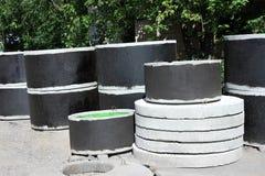 Concrete circle pit Royalty Free Stock Photography