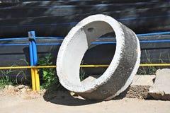 Concrete circle pit Stock Photography