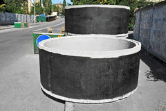Concrete circle pit Stock Photography