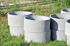Concrete circle pit Royalty Free Stock Photos