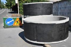 Concrete circle pit Royalty Free Stock Photo