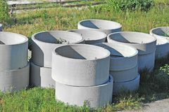 Concrete circle pit Royalty Free Stock Image