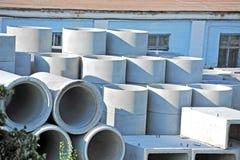Concrete circle pit Stock Images
