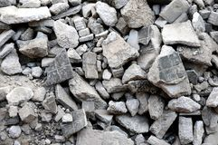Concrete city construction and demolition texture Stock Photos