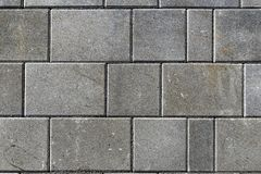 Concrete or cobble gray pavement slabs or stones for floor, wal stock photo