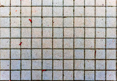 Concrete or cobble gray pavement slabs or stones. Royalty Free Stock Images