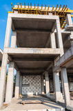 Concrete columns detail construction home Royalty Free Stock Image