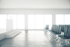 Concrete conferentieruimte Royalty-vrije Stock Fotografie