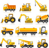 Concrete construct cars Stock Photography