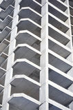 Concrete construction. Tall concrete residential building construction unfinished Stock Image