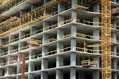 Concrete construction. Concrete office building under construction Royalty Free Stock Photo