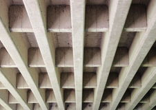 Concrete construction for highway bridge from beneath Royalty Free Stock Image