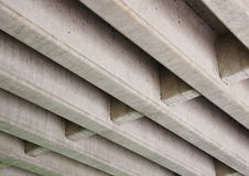 Concrete construction for highway bridge from beneath Royalty Free Stock Images