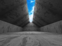 Concrete construction modern architecture background Stock Images