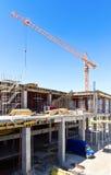 Concrete construction site royalty free stock images