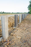 Concrete construction to prevent soil erosion Stock Images