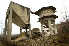 Concrete constructions Stock Images