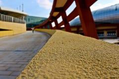 Concrete constructions outside stadium. Kunming Stock Image