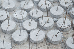 Concrete Covering. The Concrete Covering made from cement and sand for concrete encased stock images