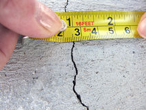 Concrete crack Stock Photo