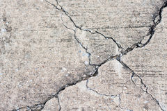 Concrete with crack. Royalty Free Stock Image