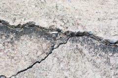 Concrete with crack Royalty Free Stock Image