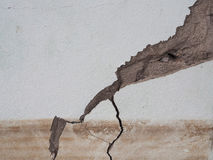 Concrete cracked from flooding effect.  Royalty Free Stock Image