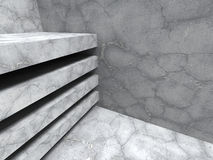 Concrete cracked stone abstract architecture background. 3d render illustration Royalty Free Stock Photo