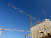 Concrete and cranes Royalty Free Stock Photography