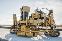 Concrete  Crawler highway Curb Machine Royalty Free Stock Photo